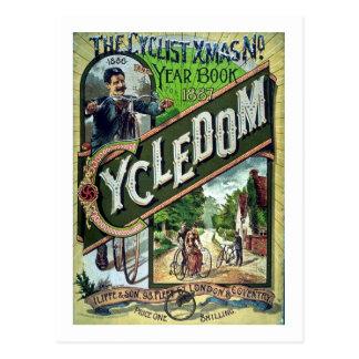 Cycledom Vintage 1886 Catalog Christmas Postcard