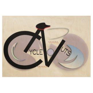 CycleNuts Custom Wood Poster
