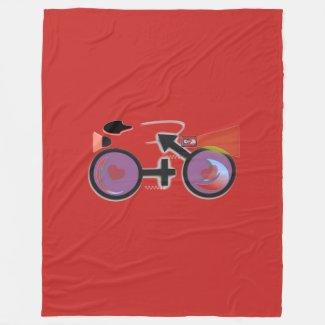 CycleNuts DNA Fleece Blanket