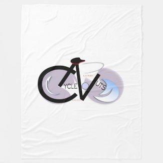 CycleNuts logo Fleece Blanket