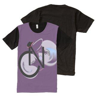 CycleNuts Men's Black Front Panel Logo Shirt