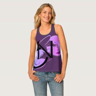 CycleNuts Women's Racerback Purple Top