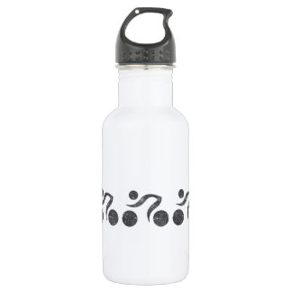 Cyclers in Grey 18oz Water Bottle