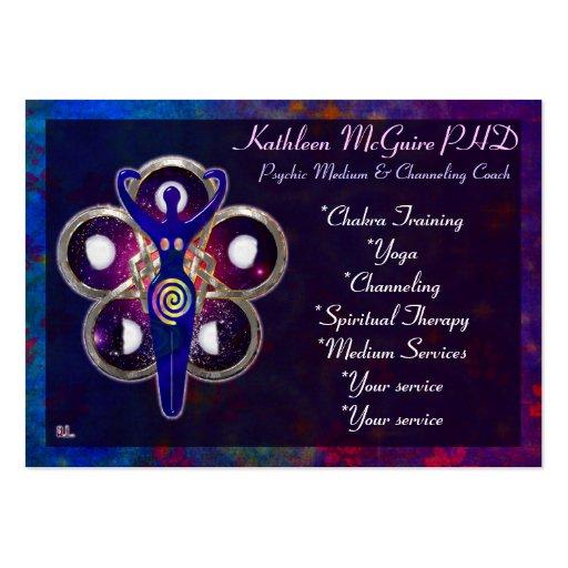 Cycles 3D Goddess Worship MEDIUM PSYCHIC LIGHTWORK Business Card