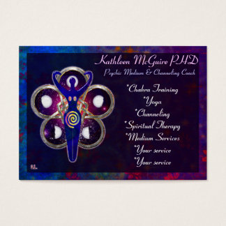 Cycles 3D Goddess Worship MEDIUM PSYCHIC LIGHTWORK Business Card