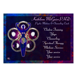 Cycles 3D Goddess Worship MEDIUM PSYCHIC LIGHTWORK Large Business Cards (Pack Of 100)