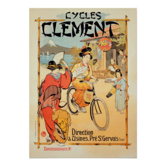 Cycles Clement Pre Saint-Gervais Poster