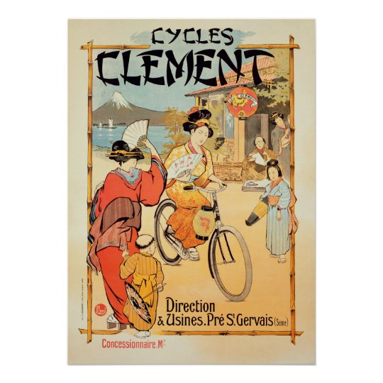 Cycles Clement Pre Saint-Gervais Poster