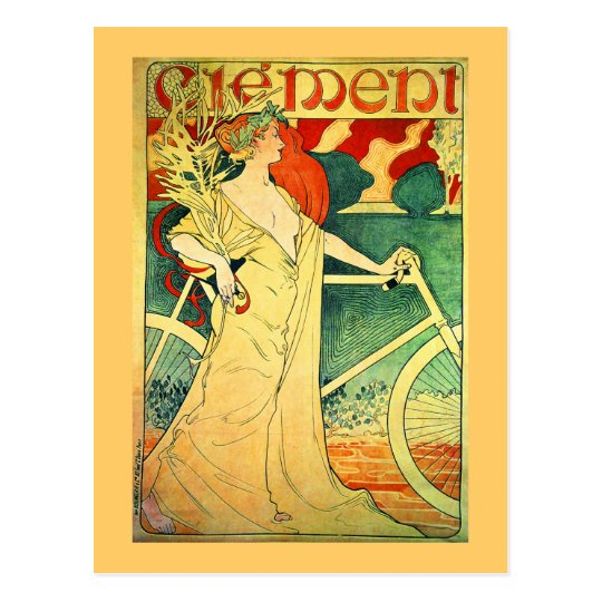 Cycles Clément Vintage Bicycle Poster Postcard