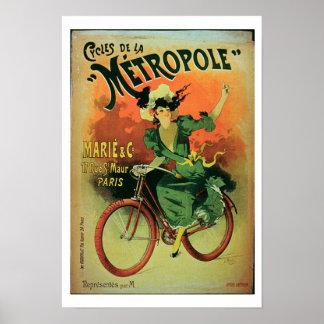 'Cycles de La Metropole', Marie & Co. (colour lith Poster