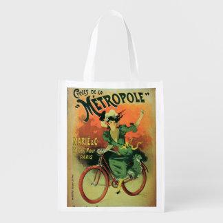 """""""Cycles de La Metropole"""", Marie y Co. (lith del Bolsas Para La Compra"""