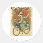 Cycles de La Metropole Round Stickers