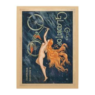 Cycles Gladiator by Georges Massias Bike Bicycle Wood Print