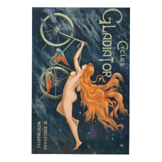 Cycles Gladiator by Georges Massias Bike Bicycle Wood Wall Art