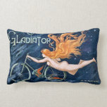 Cycles Gladiator by Georges Massias Vintage Throw Pillow