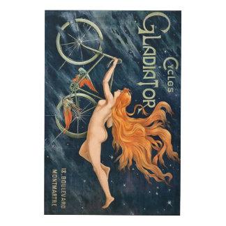 Cycles Gladiator by Georges Massias Vintage Wood Print