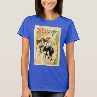 Cycles Gladiator French belle epoque bicycles ad T-Shirt
