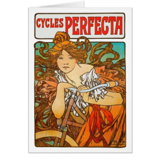 Cycles Perfecta, Alphonse Mucha Fine Art Nouveau Card