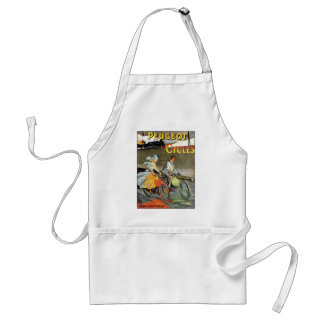 Cycles Peugeot Vintage Bicycle Art Adult Apron