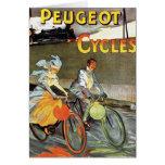 Cycles Peugeot Vintage Bicycle Art Greeting Card