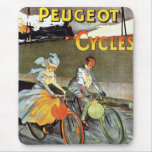 Cycles Peugeot Vintage Bicycle Art Mouse Pad