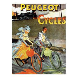 Cycles Peugeot Vintage Bicycle Art Postcard