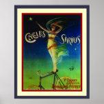 Cycles Sirius Art Nouveau Poster 16 x 20