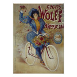 Cycles Wolff American Bicycle Poster