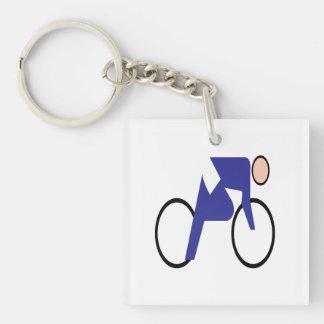 Cycling 2 acrylic keychains
