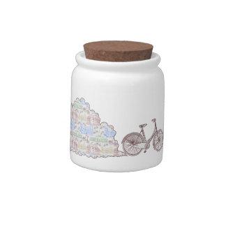 Cycling Aarhus, candy jars