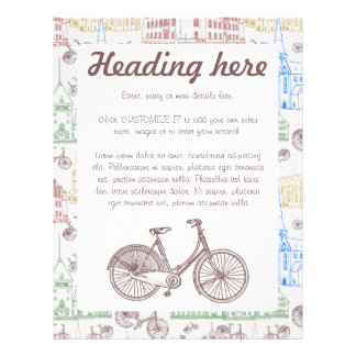 Cycling Aarhus, customizable Personalized Flyer