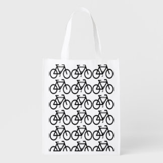 Cycling Abstract Grocery Bag