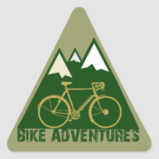 cycling adventure - bikes triangle sticker