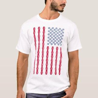 Cycling ( American Flag Style ) T-Shirt
