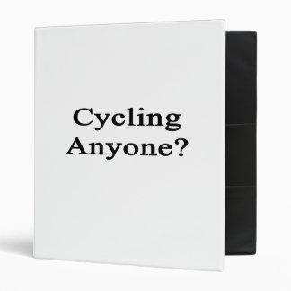 Cycling Anyone 3 Ring Binder
