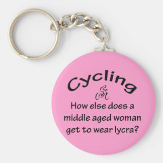 Cycling Basic Round Button Keychain