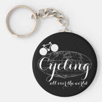 cycling biking cycle bike pedaling keychain