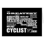 Cycling Biking & Cyclists : Greatest Cyclist World Stationery Note Card