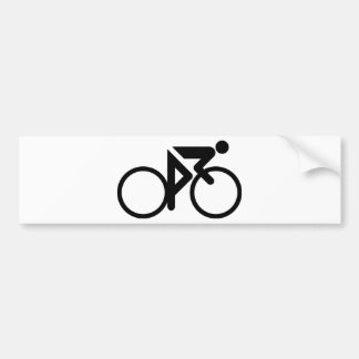 cycling black cylcer bumper sticker