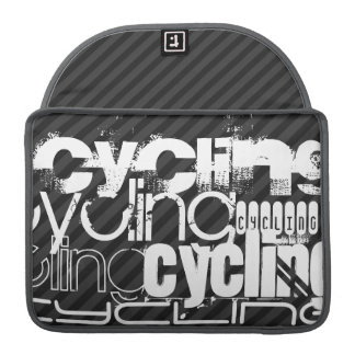 Cycling; Black & Dark Gray Stripes Sleeve For MacBook Pro