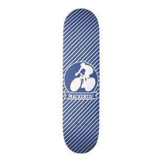 Cycling; Blue & White Stripes, Sports Skateboard