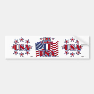 Cycling BMX USA Bumper Sticker