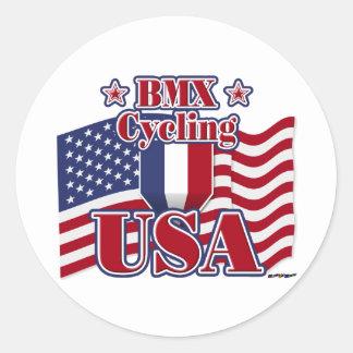 Cycling BMX USA Classic Round Sticker