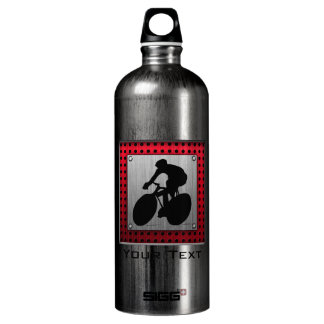 Cycling; Brushed metal look Aluminum Water Bottle