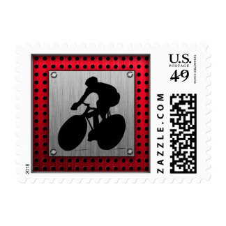 Cycling; Brushed metal look Postage