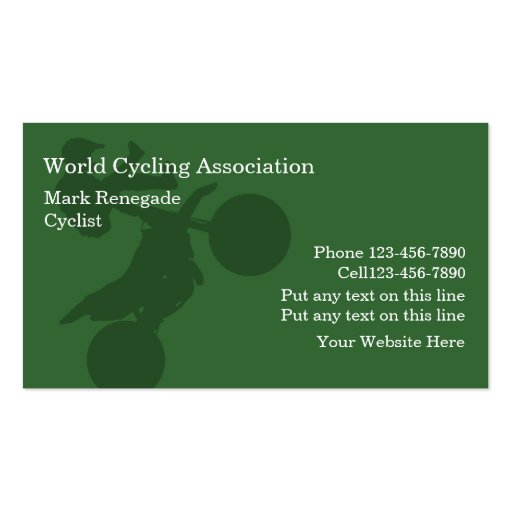 Cycling Business Cards