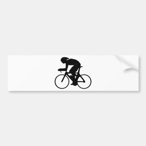 cycling car bumper sticker
