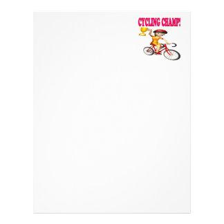 Cycling Champ Customized Letterhead
