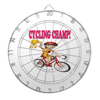 Cycling Champ Dartboard With Darts