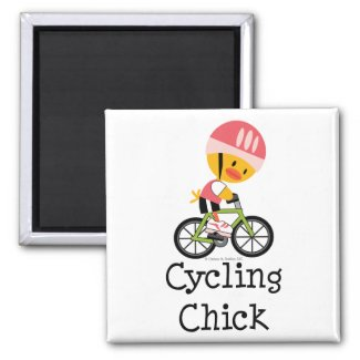 Cycling Chick Magnet magnet